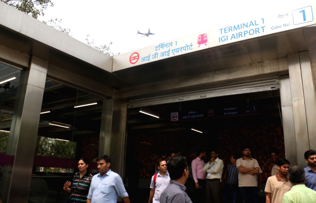 A view of the Terminal 1-IGI Airport metro station on Delhi metro's magenta line that is scheduled to be thrown open to the public on May 29, in New Delhi on May 24, 2018.