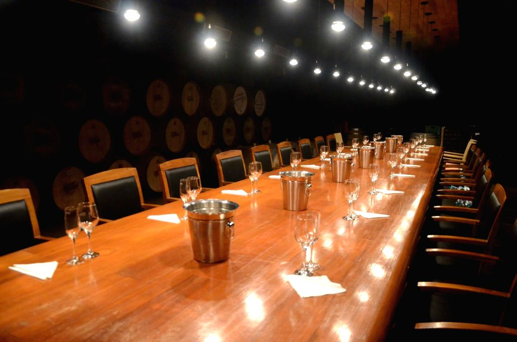 A view of the wine tasting room at Grover Zampa winery in Sanjegaon Village of Nasik on Feb 10, 2018.