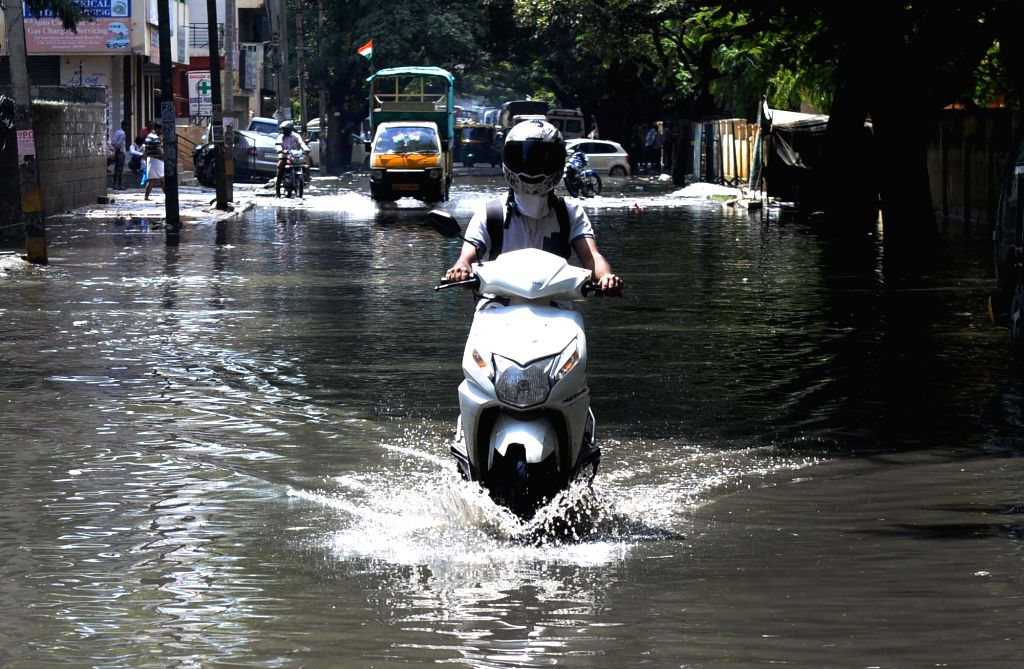 A view of waterlogged streets of Bengaluru on Aug 15, 2017.
