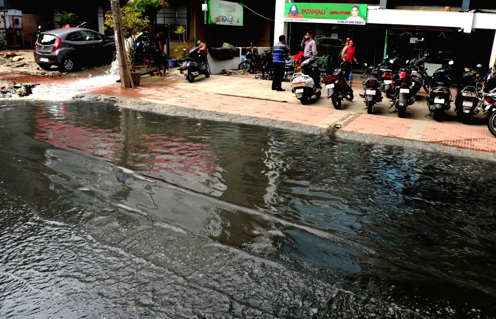 A view of waterlogged streets of Bengaluru on Aug 16, 2017.