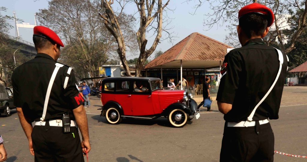 A vintage car during vintage motor vehicle rally in Kolkata, on Feb 3, 2019.