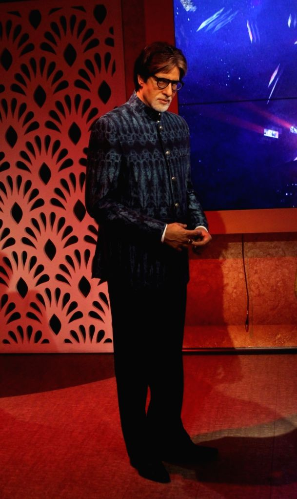 A wax statue of actor Amitabh Bachchan at Madame Tussauds Wax Museum in New Delhi on Nov 30, 2017. - Amitabh Bachchan