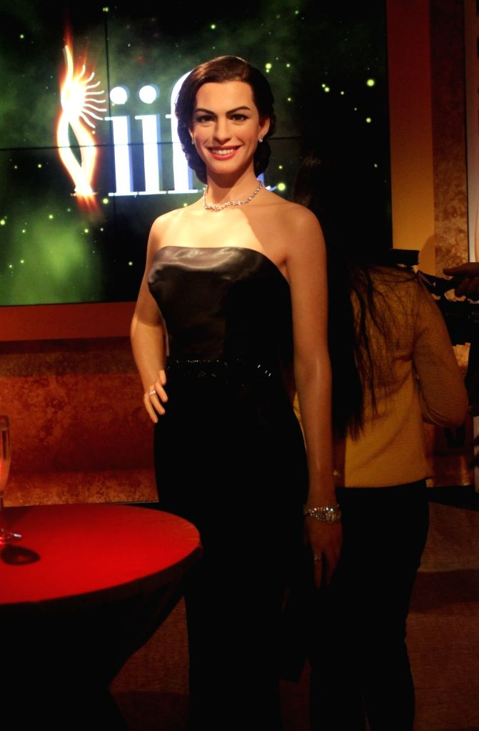 A wax statue of actress Anne Hathaway at Madame Tussauds Wax Museum in New Delhi on Nov 30, 2017. - Anne Hathaway