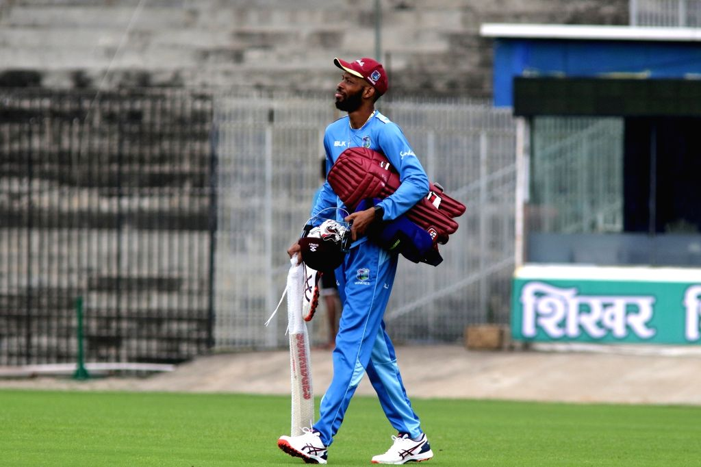 A West Indies player during a practice session ahead of the 1st one-day international (ODI) match against India, in Chennai on Dec 13, 2019.