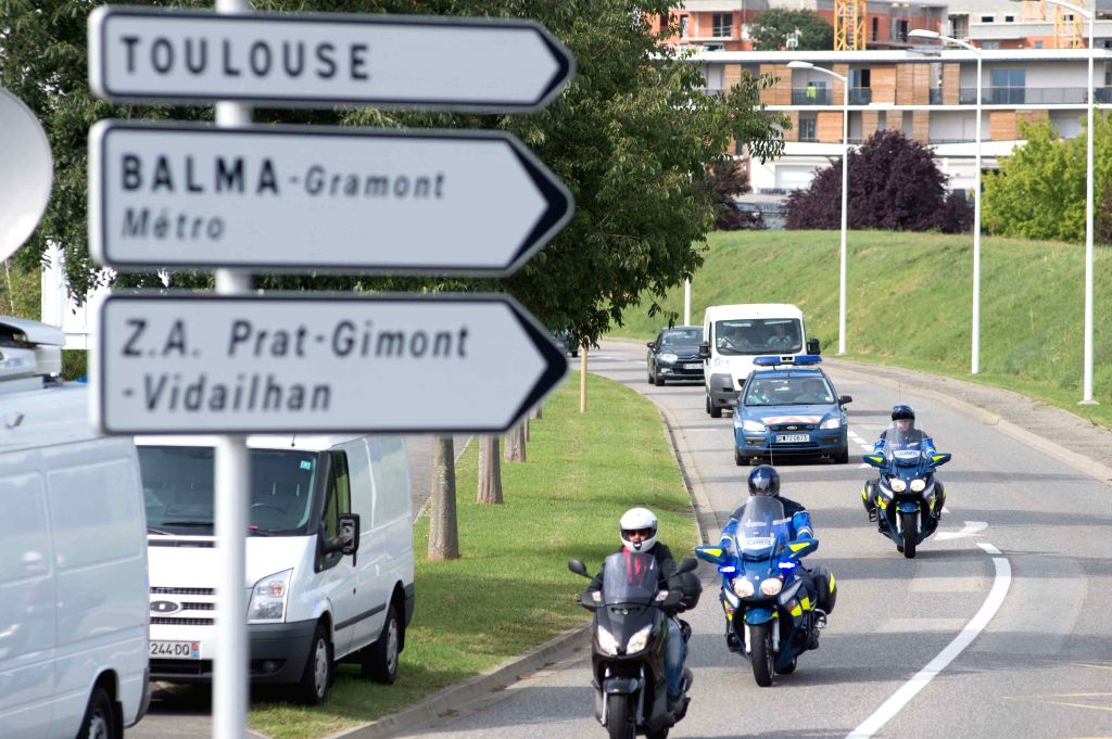 A white van transporting probable MH370 debris found at La Reunion arrives at General Directorate of Armaments(DGA) for analysis in Blagnac, near Toulouse, France, ...