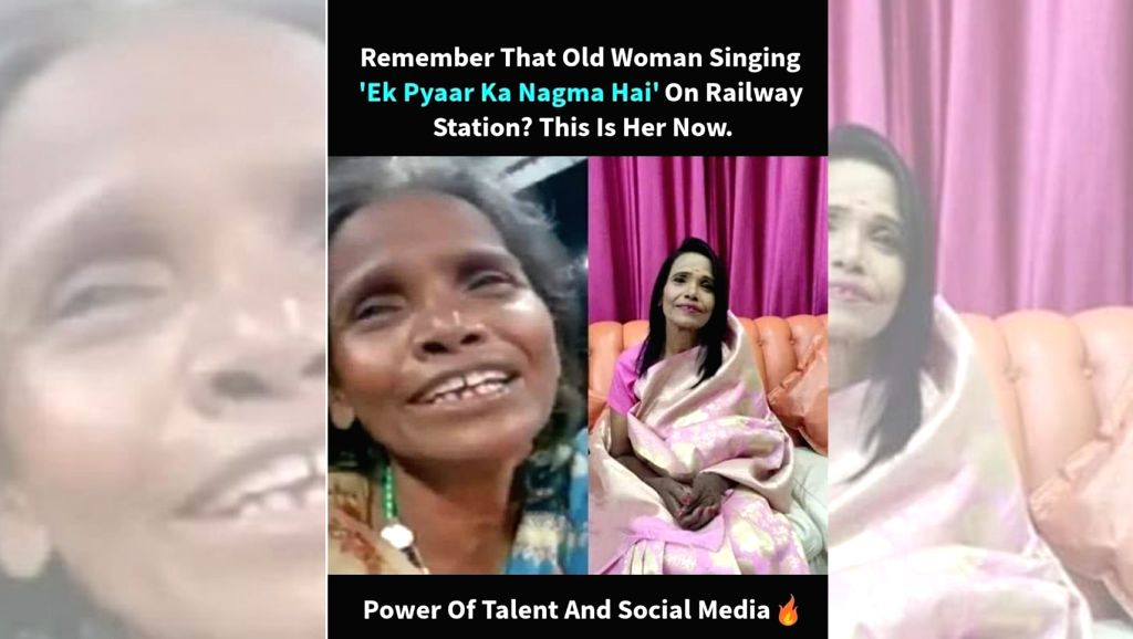 """A woman named Ranu Mondal, who became Internet sensation after her video of crooning the evergreen Lata Mangeshkar hit, """"Ek pyaar ka nagma hai"""" went viral, has reportedly got a chance to participate in a reality singing show, and has also received a"""