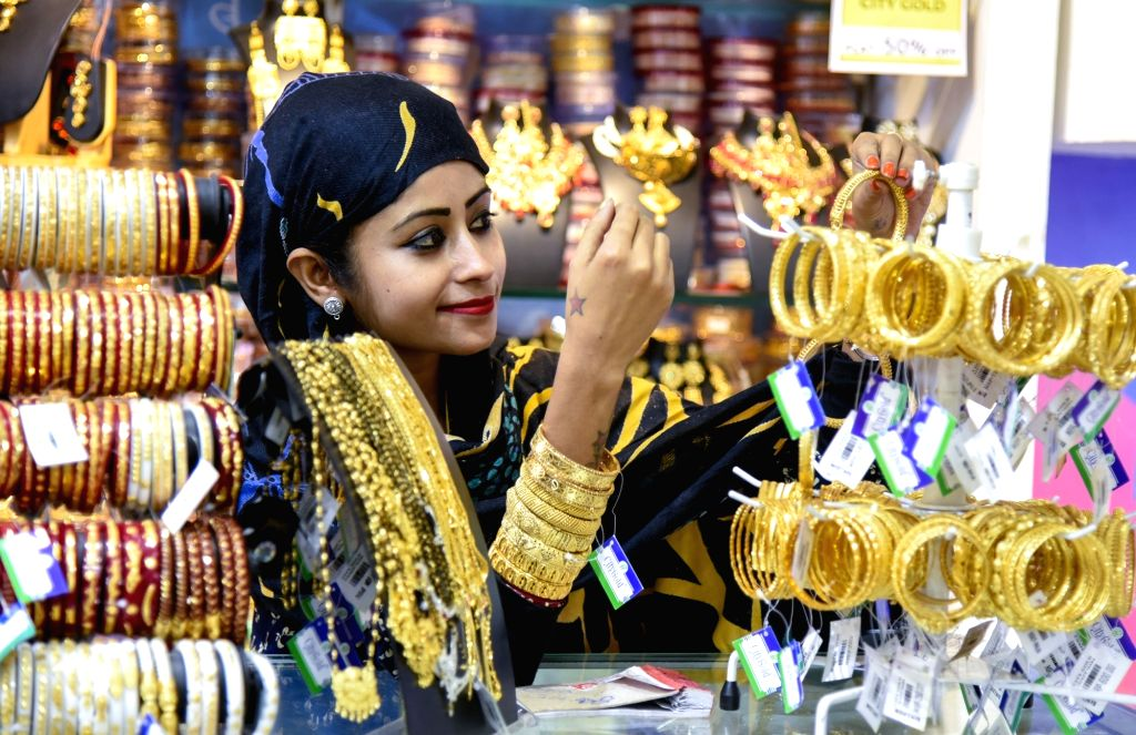 A woman seen busy shopping ahead of the Eid festival, in West Bengal's Birbhum on June 2, 2019.