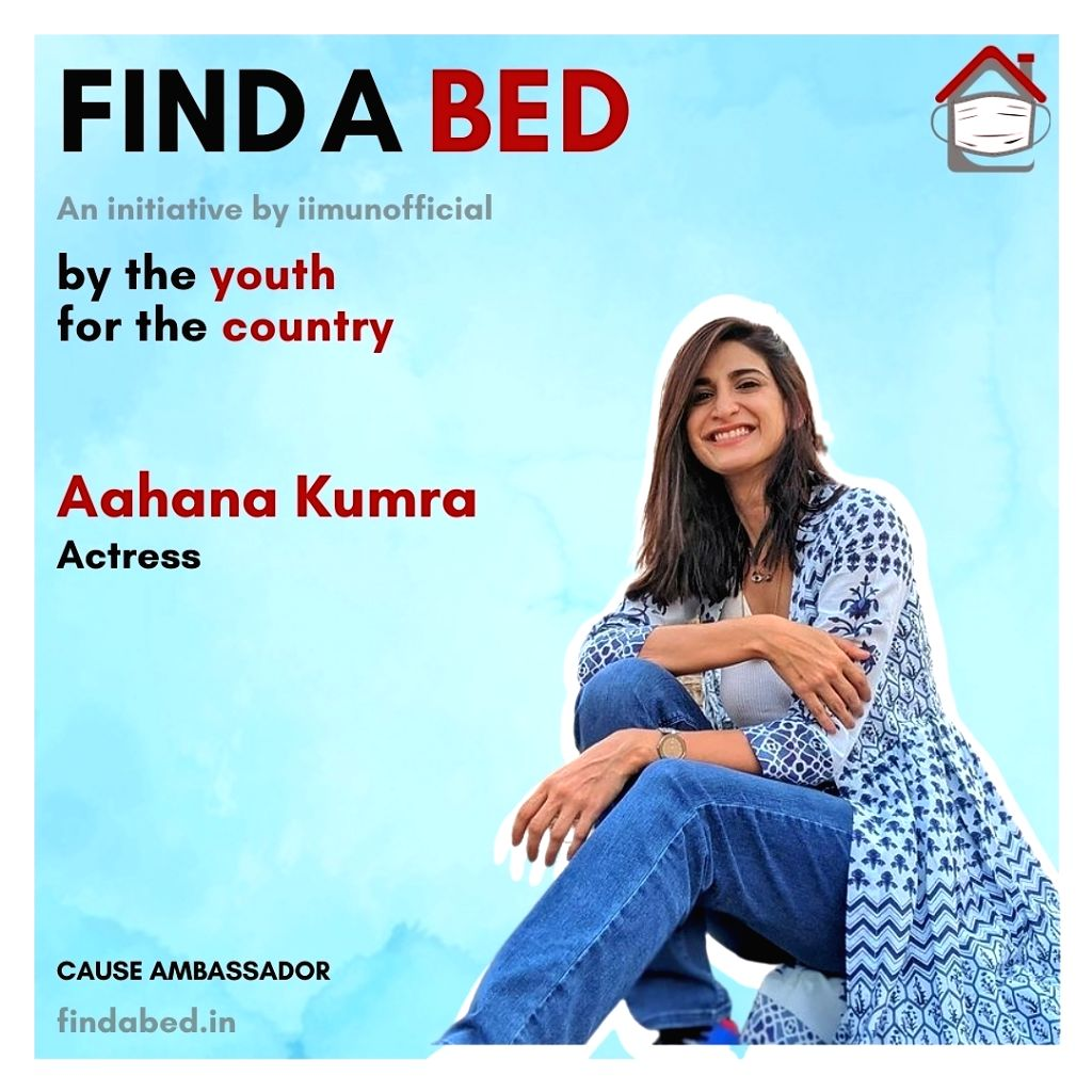 Aahana Kumra backs Find A Bed initiative for Covid-affected.(photo:instagram)
