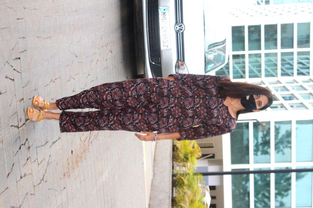 Aahana Kumra Spotted at Dubbing Studio In Andheri On Monday, 31 May, 2021.