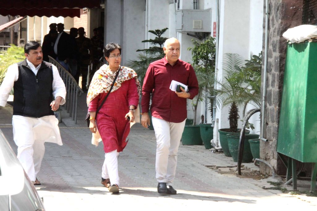 Aam Aadmi Party (AAP) delegation led by Delhi Deputy Chief Minister and party leader Manish Sisodia after meeting the Chief Election Commissioner (CEC) in New Delhi, on March 15, 2019. ... - Sanjay Singh