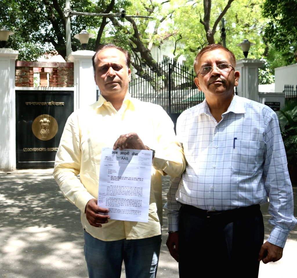 Aam Aadmi Sena (AAS) leader Prabhat Kumar after meeting with Delhi Lieutenant Governor Najeeb Jung in New Delhi on June 4, 2016. - Prabhat Kumar