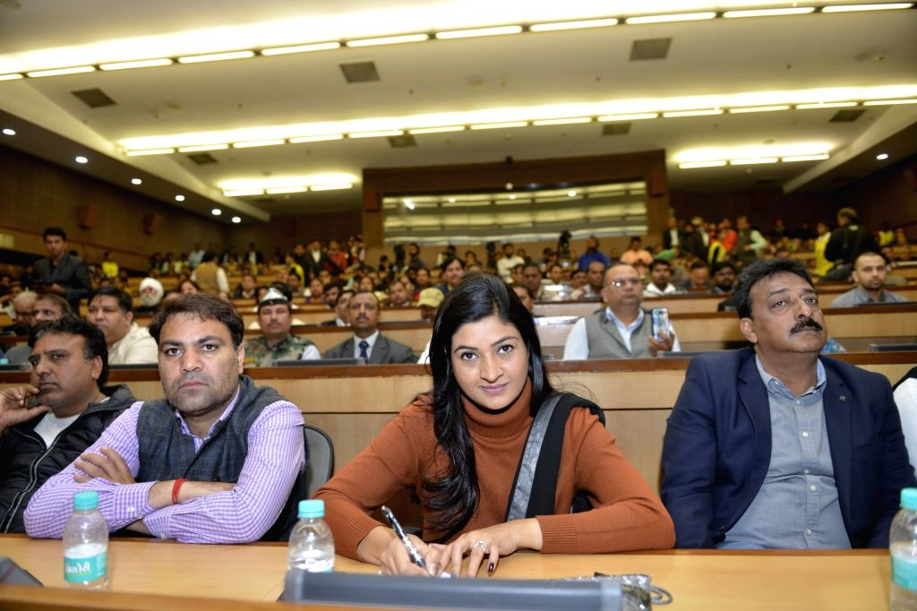 AAP leader Alka Lamba during a programme organised on completion of three years of Delhi Government, on Feb 14, 2018.