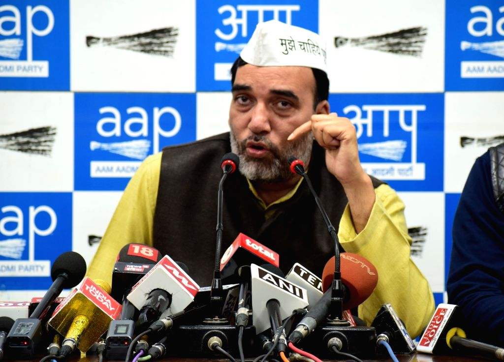 AAP leader Gopal Rai addresses a press conference in New Delhi on March 5, 2019. - Gopal Rai