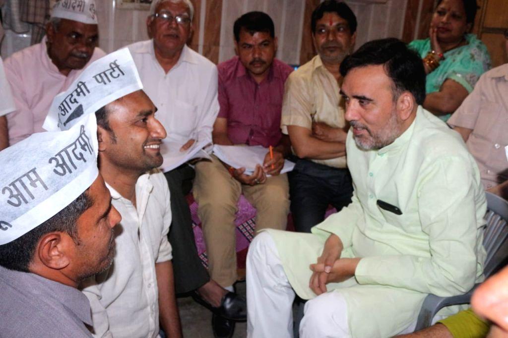 AAP leader Gopal Rai during election campaign in New Delhi on April 10, 2019. - Gopal Rai
