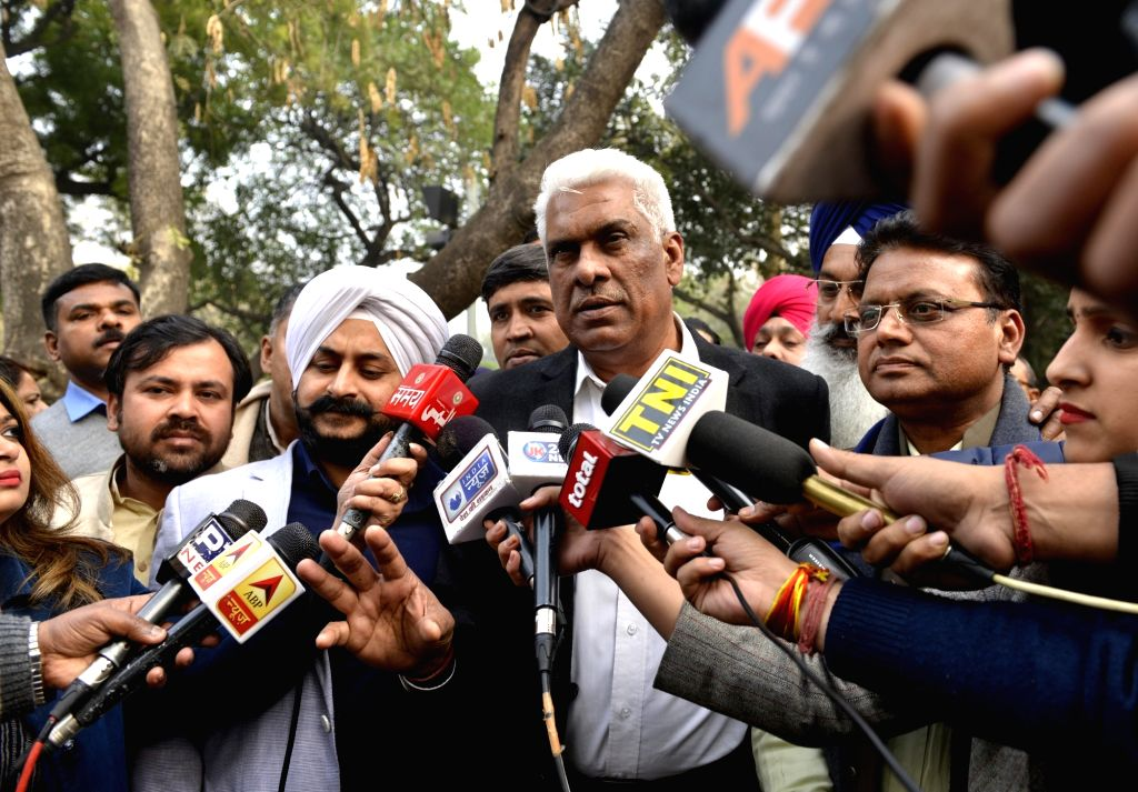 AAP MLAs talk to the press outside the Delhi High Court on Jan 24, 2018. Eight of the 20 AAP MLAs on Tuesday moved the Delhi High Court challenging a notification disqualifying them on the ... - Nath Kovind