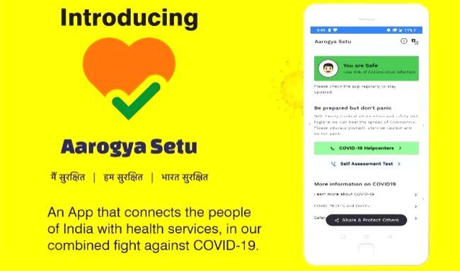 Aarogya app.