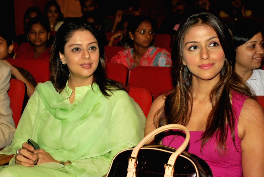 Aarti Chabbria and Nagma at Cancer Patients Aid Association No tobbaco event at KC College. - Nagma