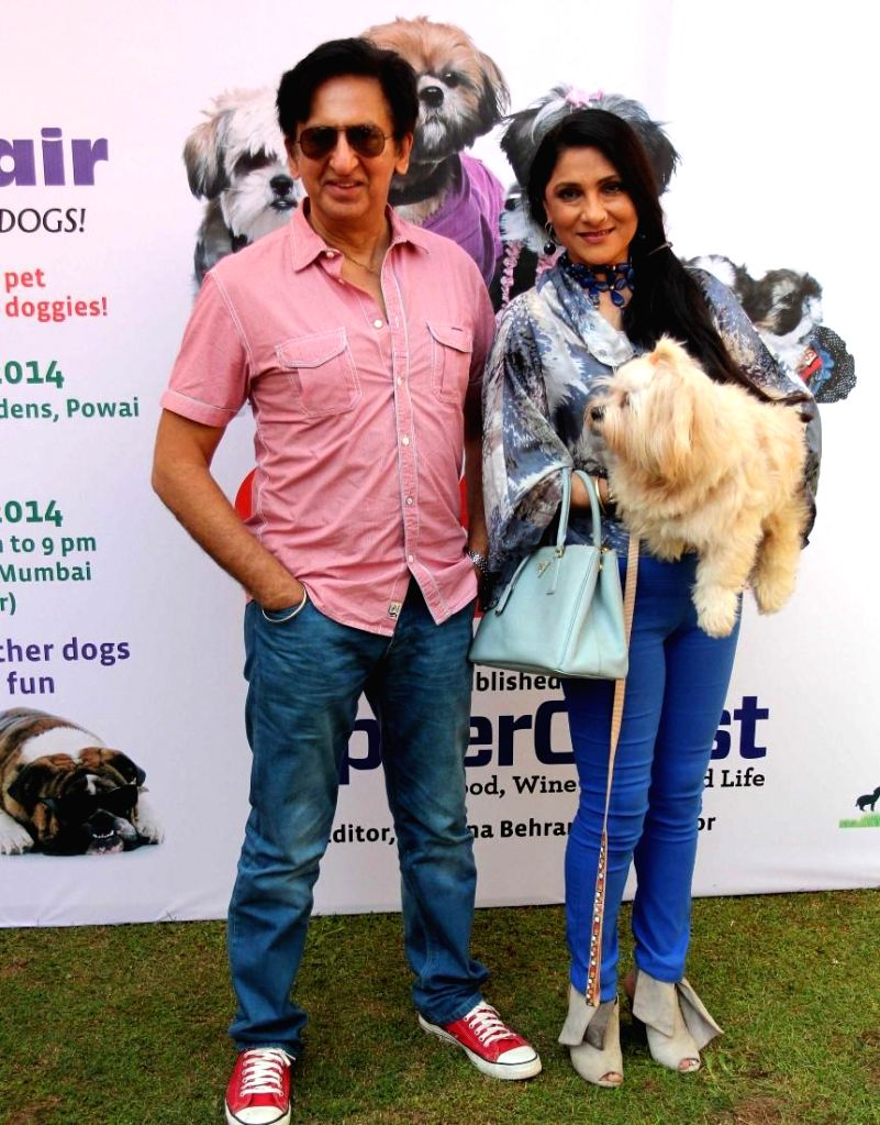 Aarti Surendranath along with her husband Kailash Surendranath during the 11th UpperCrust Food and Wine Show in Mumbai on Dec.6, 2013.