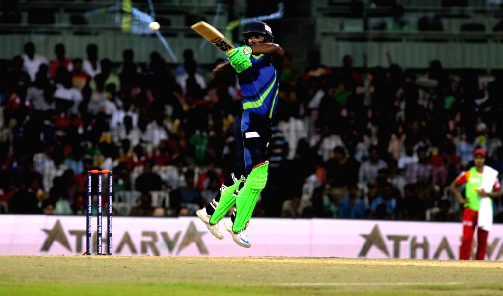 Abhinav Mukund of TUTI Patriots in action against Chepauk Super Gillies in the final match of Tamil Nadu Premier League 2016 in Chennai on Sept 18, 2016.