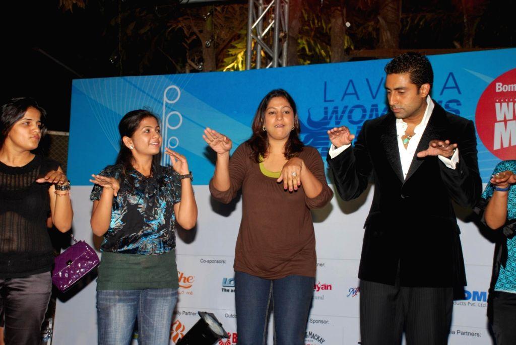 Abhishek Bachchan at Lavasa Women's race winners meet at The Club.
