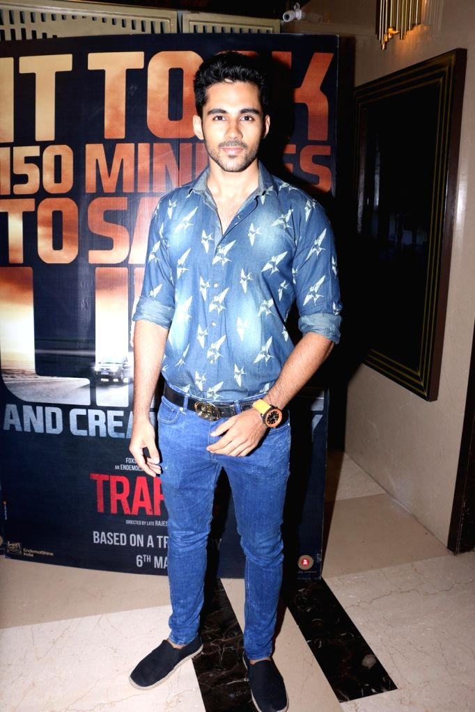 Abhishek Bajaj during the screening of film Traffic in Mumbai on May 5, 2016.
