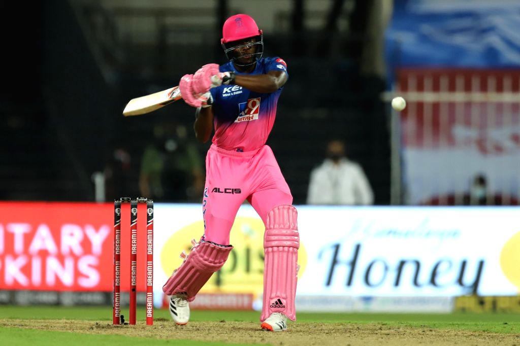 Abu Dhabi: Jofra Archer of Rajasthan Royals bats during match 4 of season 13 of the Dream 11 Indian Premier League (IPL) between Rajasthan Royals and Chennai Super Kings held at the Sharjah Cricket Stadium, Sharjah in the United Arab Emirates on the