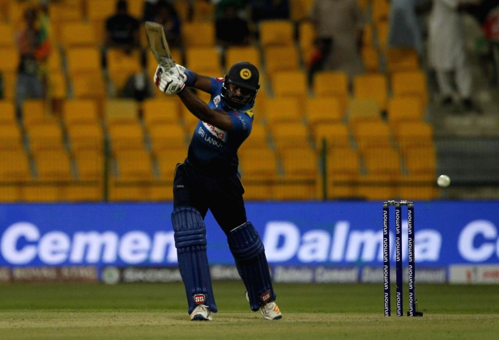 Abu Dhabi: Kusal Perera of Sri Lanka in action during the third match (Group B) of Asia Cup 2018 between Sri Lanka and Afghanistan at Sheikh Zayed Stadium, in Abu Dhabi on Sept 17, 2018.
