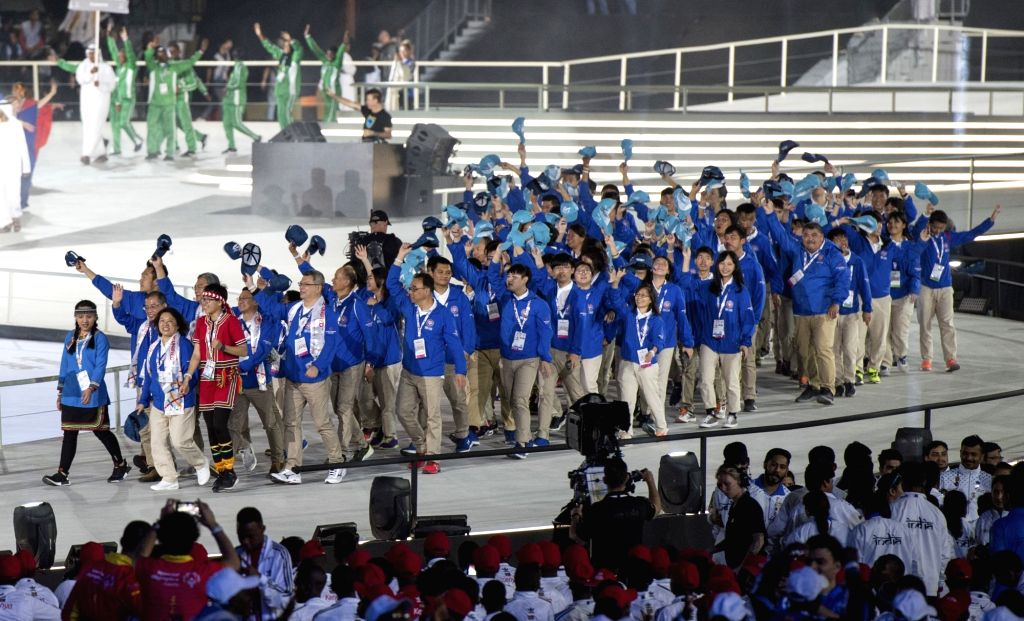 ABU DHABI, March 15, 2019 - The delegation of Chinese Taipei marches during the opening ceremony of the 2019 Abu Dhabi Special Olympics World Games in Abu Dhabi, the United Arab Emirates, on March ...