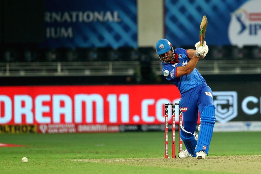 Abu Dhabi: Marcus Stoinis of Delhi Capitals during match 2 of season 13 of Dream 11 Indian Premier League (IPL) between Delhi Capitals and Kings XI Punjab held at the Dubai International Cricket ...