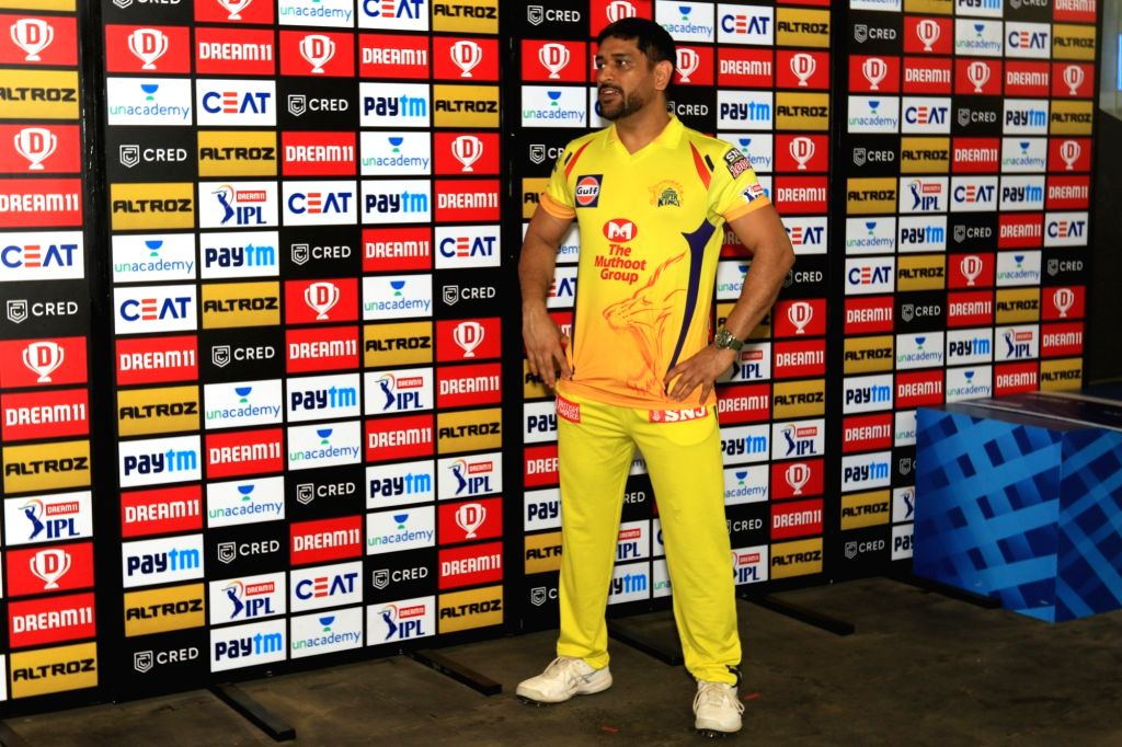 Abu Dhabi: MS Dhoni captain of Chennai Super Kings at presentation ceremony during match 1 of season 13 Dream 11 of Indian Premier League (IPL) held at the Sheikh Zayed Stadium, Abu Dhabi  in the ... - MS Dhoni