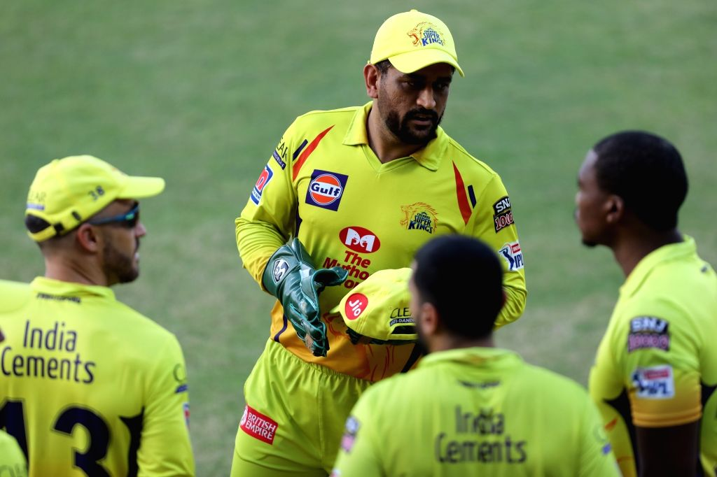 Abu Dhabi: MS Dhoni captain of Chennai Superkings during match 4 of season 13 of the dream 11 Indian Premier League (IPL) between Rajasthan Royals and Chennai Super Kings held at the Sharjah Cricket ... - MS Dhoni