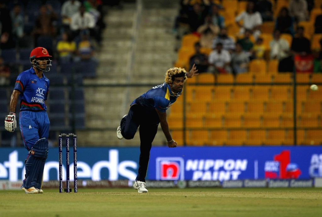 Abu Dhabi: Sri Lanka's Lasith Malinga in action during the third match (Group B) of Asia Cup 2018 between Sri Lanka and Afghanistan at Sheikh Zayed Stadium, in Abu Dhabi on Sept 17, 2018.