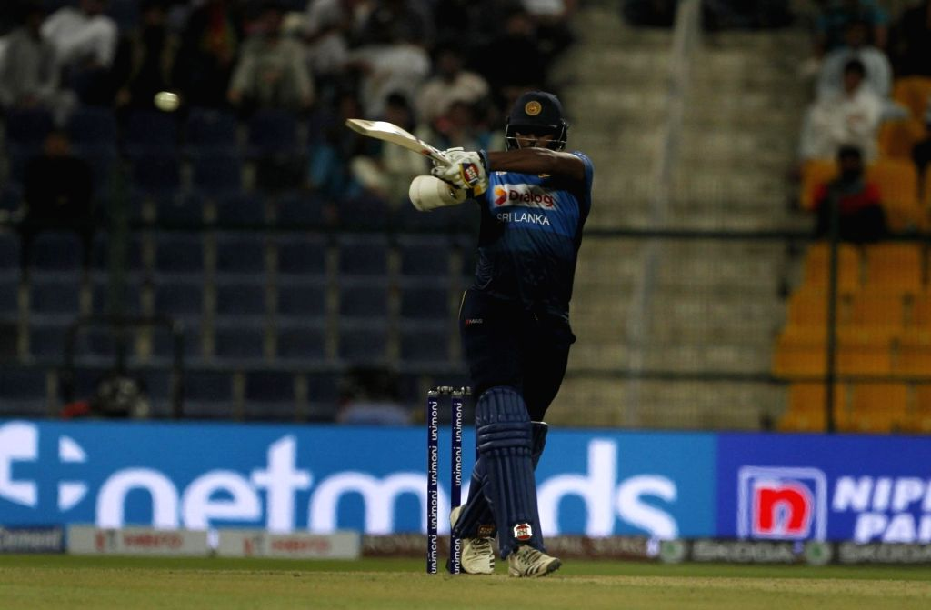 Abu Dhabi: Thisara Perera of Sri Lanka in action during the third match (Group B) of Asia Cup 2018 between Sri Lanka and Afghanistan at Sheikh Zayed Stadium, in Abu Dhabi on Sept 17, 2018.