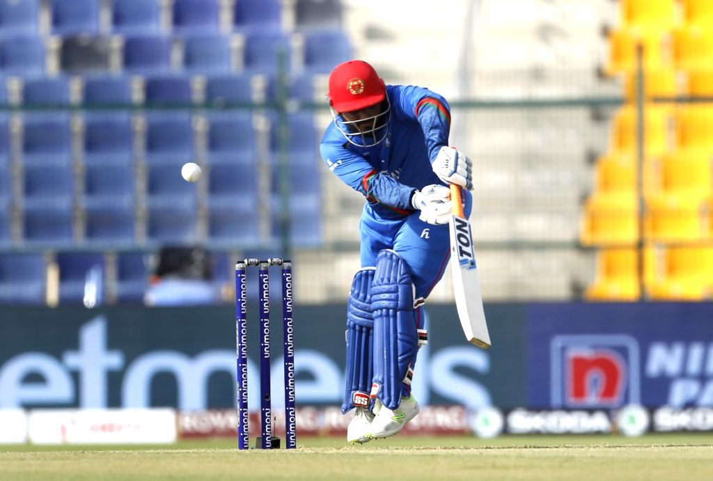 Abu Dhabi (UAE): Afghanistan's Mohammad Shahzad in action during the third match (Group B) of Asia Cup 2018 between Sri Lanka and Afghanistan at Sheikh Zayed Stadium, in Abu Dhabi on Sept 17, 2018.