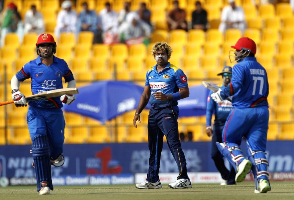Abu Dhabi (UAE): Sri Lanka's Lasith Malinga during the third match (Group B) of Asia Cup 2018 between Sri Lanka and Afghanistan at Sheikh Zayed Stadium, in Abu Dhabi on Sept 17, 2018.