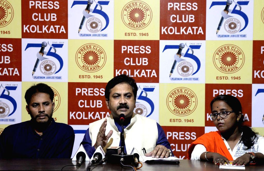 ABVP's Former National General Secretary, Shreehari Borikar addresses a press conference, in Kolkata on July 25, 2019.