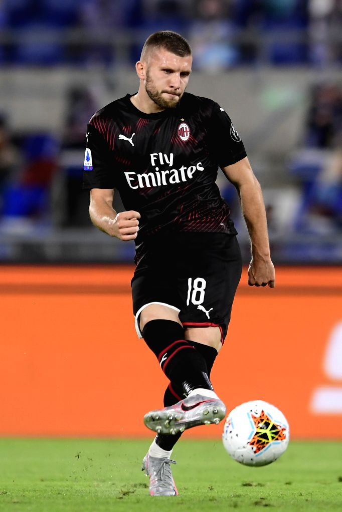 AC Milan's Ante Rebic competes during a Serie A football match between Lazio and AC Milan in Rome, Italy, July 4, 2020.