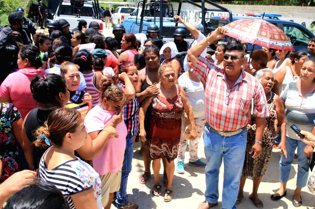 ACAPULCO, July 7, 2017 - Relatives of prisoners gather outside the prison after a clash between inmates in Acapulco July 6, 2017. At least 28 people were killed in a prison riot on Thursday between ...
