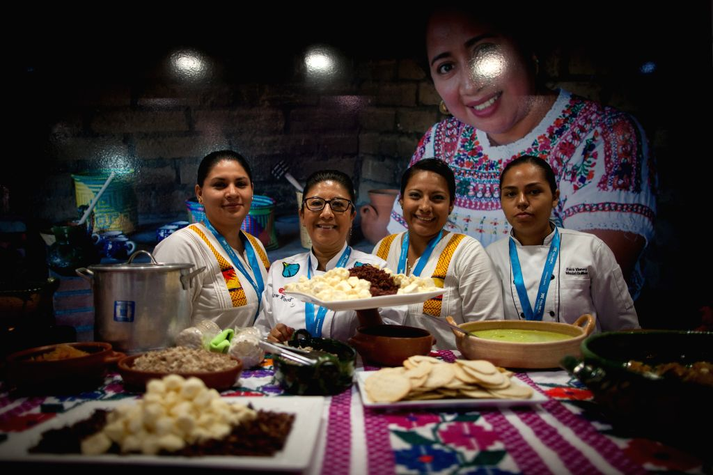 Women of Oaxaca pose during Tianguis Turistico 2015, a tourism promoting event, in the city of Acapulco, State of Guerrero, Mexico, on March 24, 2015. The ...