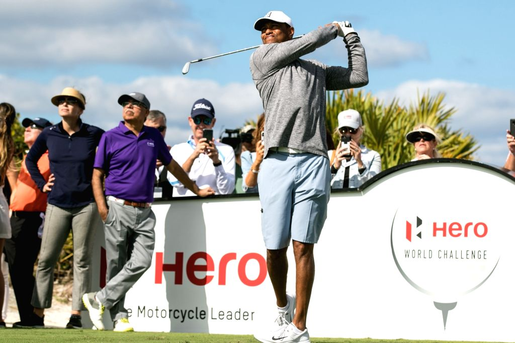 Ace golfer Tiger Woods in action during the Hero World Challenge 2019 at Albany Championship Course in the Bahamas on Dec 4, 2019.