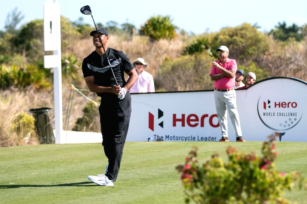 Ace golfer Tiger Woods in action during the Hero World Challenge 2019 at Albany Championship Course in the Bahamas on Dec 5, 2019.