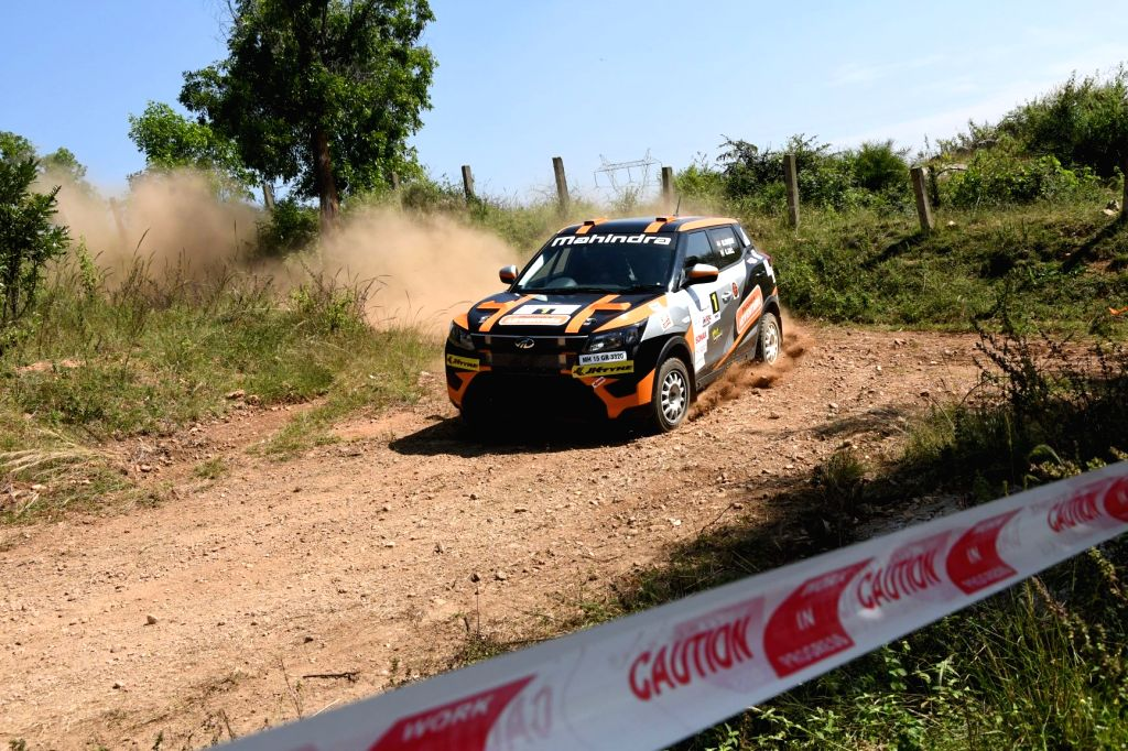 Ace rallyist Gaurav Gill in action during day of the K 1000 rally of the CYC FMSCI National Rally Championship in Bengaluru.