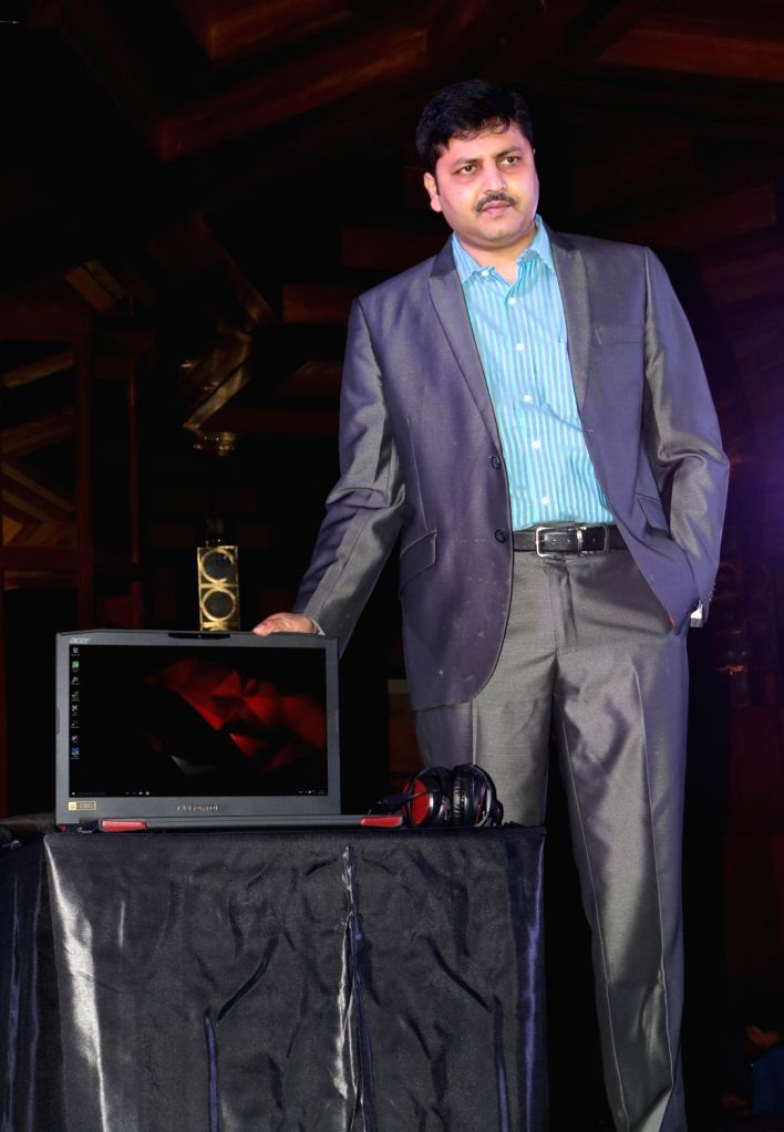 Acer India Senior Director – Consumer Business Chandrahas Panigrahi at the launch of  Predator gaming series in New Delhi, on April 20, 2016.