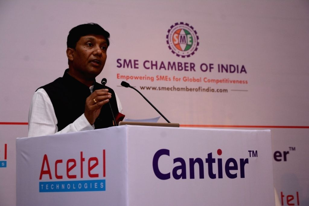 """Acetel Technologies CEO Alok Varshney addresses during a programme on """"Industry 4.0 Aligned Smart manufacturing solutions"""" organised by Acetel Technologies and Cantier Systems in ..."""