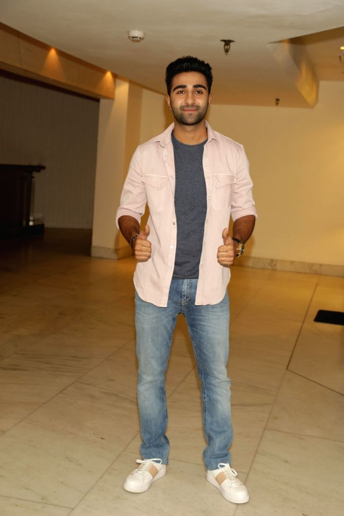 "Actor Aadar Jain during a press conference to promote his upcoming film ""Qaidi Band"" in New Delhi on Aug 16, 2017. - Aadar Jain"