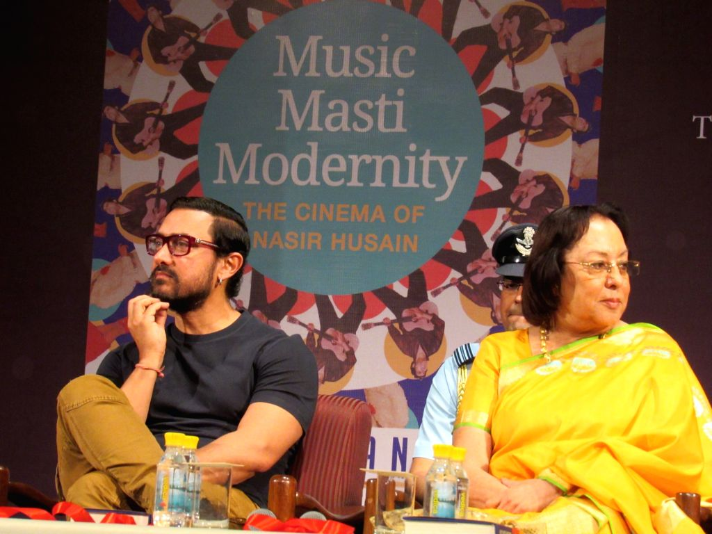 "Actor Aamir Khan addresses at the launch of  Akshay Manwani`s book ""MUSIC, MASTI, MODERNITY"" in New Delhi on Oct 28, 2016. - Aamir Khan"