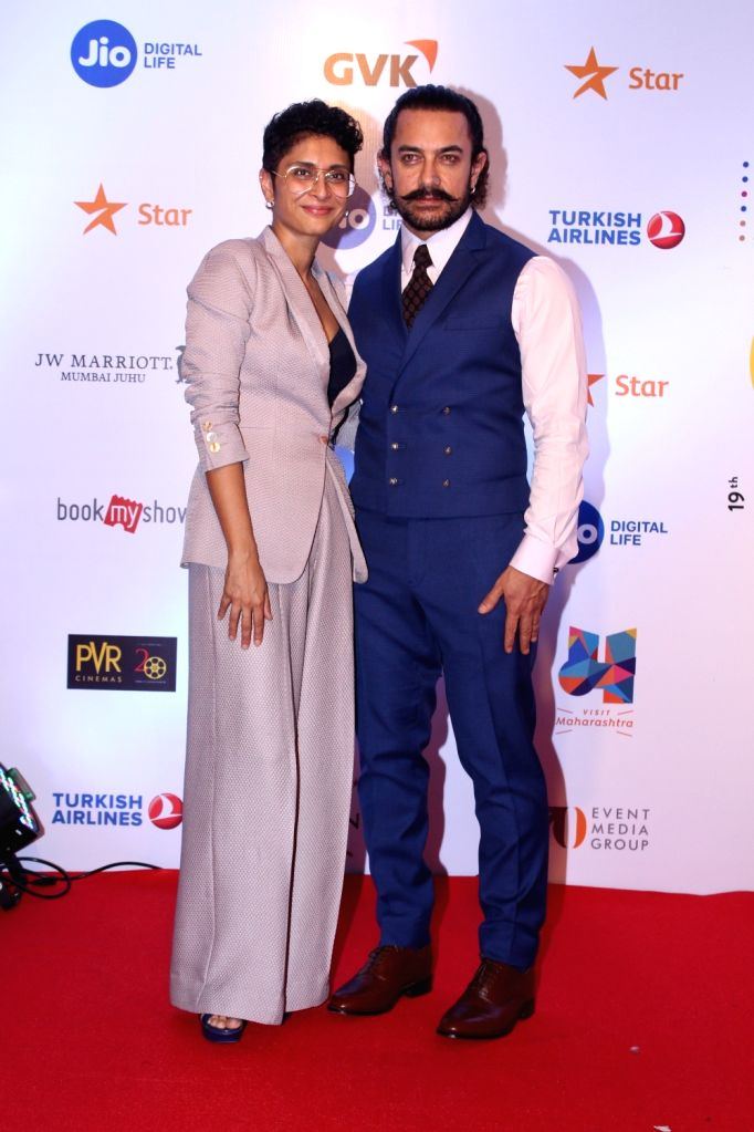 Actor Aamir Khan along with his wife Kiran Rao at Mami Movie Mela 2017 in Mumbai on Oct 12, 2017. - Aamir Khan and Kiran Rao