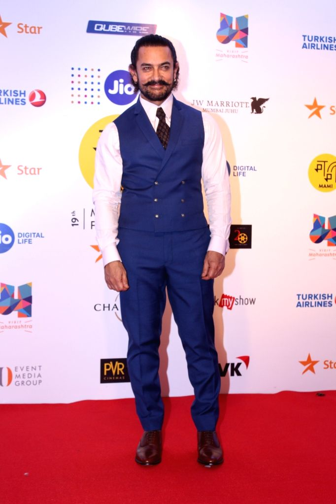 Actor Aamir Khan at Mami Movie Mela 2017 in Mumbai on Oct 12, 2017. - Aamir Khan