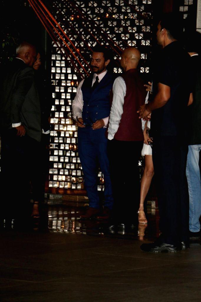 Actor Aamir Khan at Nita Ambani's residence for Diwali celebration in Mumbai on Oct 12, 2017. - Aamir Khan and Nita Ambani