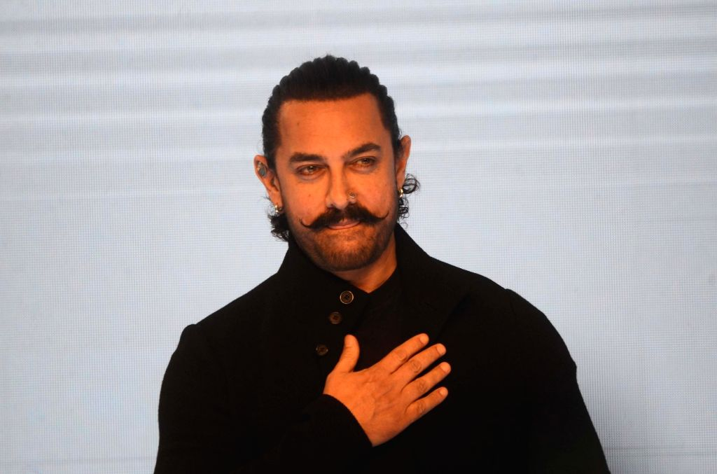 Actor Aamir Khan at the launch of Vivo V11 Pro smartphone, in Mumbai, on Sept 6, 2018. - Aamir Khan